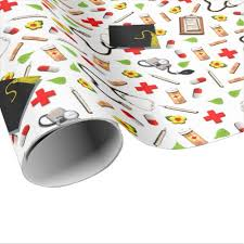 graduation wrapping paper nursing school graduation wrapping paper party wrapping paper