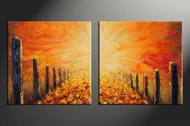 modern art for home decor piece orange modern oil paintings huge canvas art