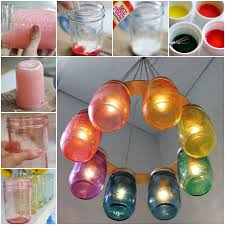 Ornament Chandelier Diy by How To Make A Rainbow Mason Jar Chandelier Pictures Photos And