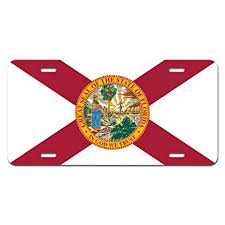 Florida Vanity Plate Cost Amazon Com Florida State Flag Novelty Metal Vanity License Tag