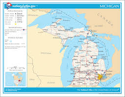 Michigan State Land Map by Maps United States Map Michigan