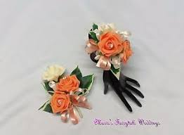 wedding flowers ebay wedding flowers prom corsage package apricot roses