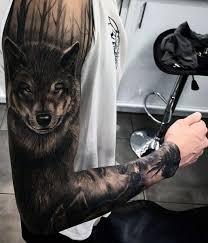 amazing wolf arm tattoos arm wolf
