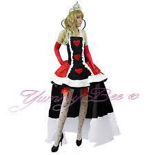 Queen Hearts Size Halloween Costume Alice Wonderland Size Fancy Dresses Ebay