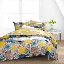 Marimekko Unikko Duvet Marimekko Sitruunapuu Yellow Blue Duvet Cover Set Marimekko