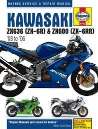 kawasaki ninja zx 6r u0026 zx 6rr 03 06 haynes repair manual