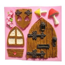 Home Cake Decorating Supply Aliexpress Com Buy Home Kitchen Silicone 3d Fairy House Door