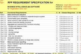 report requirements template data warehouse business requirements template 6 business