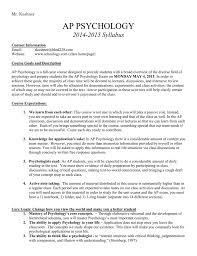 2014 2015 ap psychology syllabus bremen high district 228