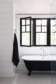 Bathroom With Black Walls Black And White Kids Bathroom With Shiplap Trim Cottage Bathroom