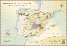 Map Of Spain With Cities by Map Of Spain Wine Regions Doc U0027s Cellartours