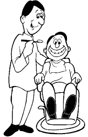 community helpers dentist coloring pages eliolera com