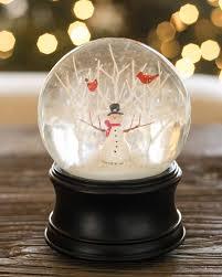 snowman musical snow globe balsam hill
