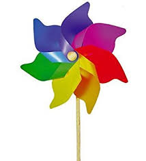 extra large multi coloured rainbow garden windmill 110cm amazon