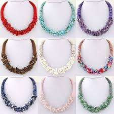natural stone statement necklace images Bohemia multi color natural stone choker necklace for women jpg