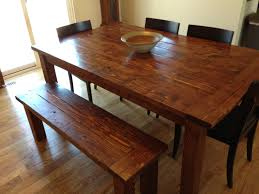 farmhouse table and bench made from pine 2x6 2x4 and 4x4 u0027s