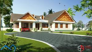 european style single floor villa in 2000 square feet with 4