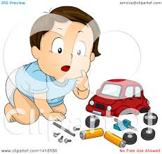 car toy clipart clipart of a brunette caucasian baby boy playing with a toy car
