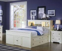 Bookcase Storage Beds Queen Size Storage Bed With Bookcase Headboard 2443