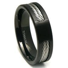 mens black titanium wedding rings two tone titanium wedding bands g two tone gold wedding band ring
