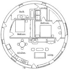 Round Homes Floor Plans | two bedroom roundhouse