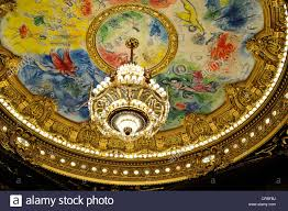 Painting Of Chandelier Ceiling Of The Garnier Opera House By Marc Chagall In 1964 Palais