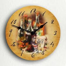 themed clock 15 fruity and stylish kitchen wall clocks rilane
