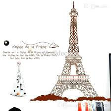 eiffel tower centerpiece ideas large decoration wall stickers home