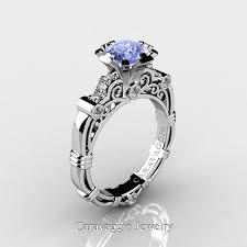light blue sapphire engagement rings caravaggio 14k white gold 1 25 ct light blue sapphire