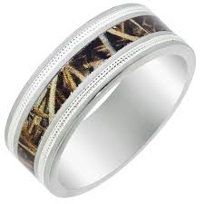 camo mens wedding bands mens titanium camo wedding band with beaded edge 8mm