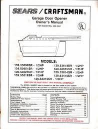craftsman 1 2 hp garage door opener wiring diagram tamahuproject org