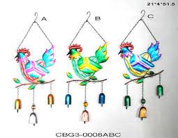 wholesale cast iron metal hen chicken wind chimes decorative