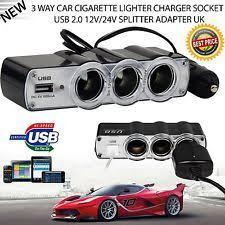 Multi Socket Car Charger With Usb Port Dc 12v 3 Port Car Charger Socket Splitter Cigarette Lighter