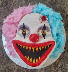 cakes for halloween made a creepy clown cake for halloween album on imgur