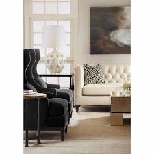 Modern Classic Furniture Ryker Modern Classic Mocha Wood Dark Grey Armchair Kathy Kuo Home