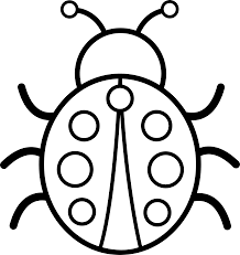 black white pictures cute colorable ladybug free clip art