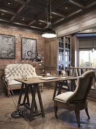 Interiors Office Designs Rustic Office And Interiors - Interior designing home 2