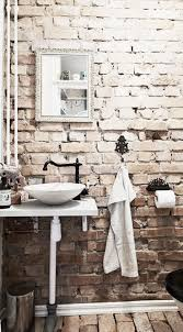 Main Bathroom Ideas by Main Bathroom White Washed Brick Aged And Worn Floor This