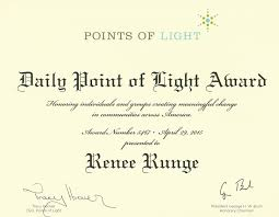 point of light award daily point of light award 5467 community angel network