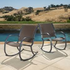 Patio Rocking Chair Rocking Chairs Patio Furniture Outdoor Seating Dining For Less