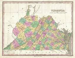 Map Of Virginia And West Virginia by Jason Headley