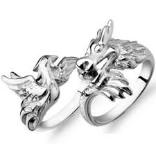 dragon jewelry rings images Dragon and phoenix wedding rings vintage couple rings jewelry jpg