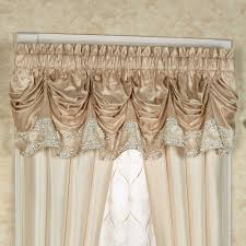 elegante sequined tuck valance window treatment