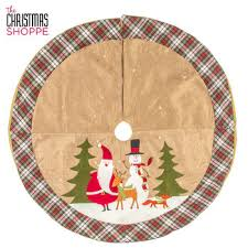 burlap santa snowman tree skirt hobby lobby 5246657