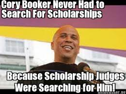 Cory Booker Meme - the reason cory booker didn t need to search for scholarships