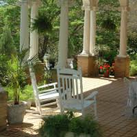 exterior magnificent front porch decoration using round tall white