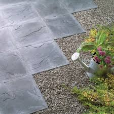 Snap Together Slate Patio Tiles by Riven Paving Slab Charcoal 45 X 45cm Pack Of 56 Paving Slab
