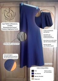 tablier bleu marine amazones de france boutique jupe tablier amazones de france
