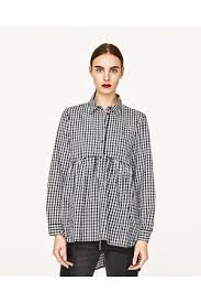 baby doll blouses zara gingham shirt s tops compare prices and buy