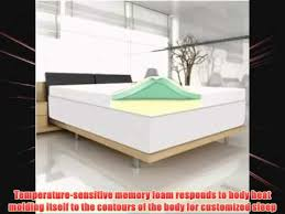 4 memory foam mattress topper by spa sensations king youtube